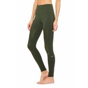 ALO Yoga Olive Green Moto High Waisted Leggings